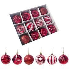 Großhandel 6 Stil Weihnachtskugeln Ornamente Für Weihnachtsbaum Bruchsichere Christbaumschmuck Kunststoff Christbaumschmuck Für Hochzeitsfeier Von