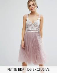 Contrast Lace Corset Top Tulle Skirt Prom Dress by Chi Chi London ...
