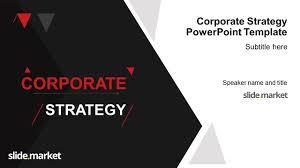 Slide Marketcorporate Strategy Powerpoint Template Slide Market