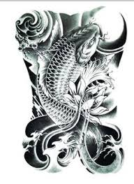 realistic koi fish drawing. Simple Drawing Realistic Koi TattooLarge Size By FlashTattoosLA On Etsy For Fish Drawing