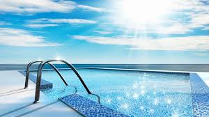 swimming pool background. Swimming Pool Blue Background Material Swimming -