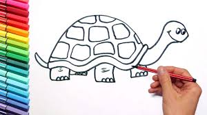 Small Picture Drawing Turtle Color Page How to Draw Animals with Stikers and