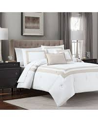 hotel style comforter.  Hotel Double Banded 5Piece King Hotel Style Comforter Set In Taupewhite U