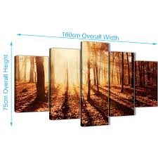 display gallery item 3 set of 5 panel trees canvas wall art prints autumn leaves forest  on 5 piece canvas wall art trees with 5 part trees canvas wall art pictures autumn leaves forest scenic