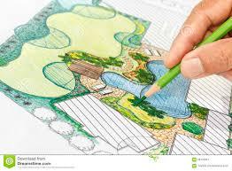 garden design plans. Landscape Architect Design Backyard Plan For Villa. Lawn, Development. Garden Plans