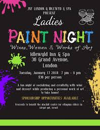 Art Event Flyer Ladies Paint Night Event Flyer Design Template Postermywall