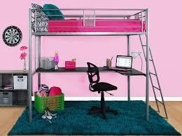 twin loft bed frame metal office desk girls modern bedroom furniture for kids