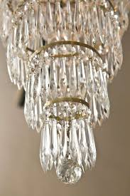 french empire style crystal chandelier circa 1920s 9 bronze arms 5 have sockets