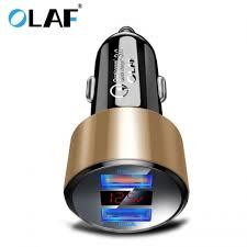 <b>OLAF</b> QC 3.0 Dual <b>USB</b> Charger with <b>LED</b> Display Universal Car ...