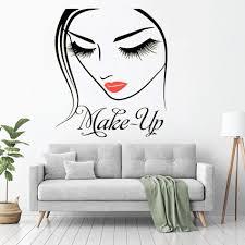 <b>YOYOYU</b> Cosmetic Cosmetology Vinyl <b>Wall Sticker Beauty</b> Girl ...