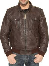 men leather jacket fashion sheepskin lamb nappa leather dark brown