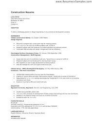 Cover Letter Construction Worker Resume Template Construction