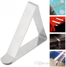 stainless steel table cover cloth clip steel tablecloth clip clamp holder wedding wedding decoration party supplies stainless steel with 0 35 piece
