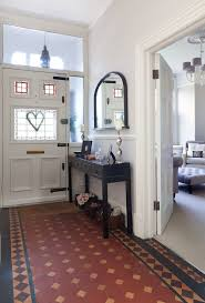 Mirror Tiles Decorating Ideas Front hallway decorating ideas entry victorian with victorian tiles 79