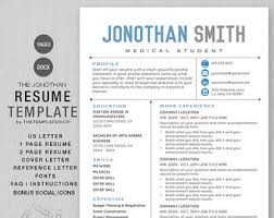 Resume Template Cv Template For Word 4 Pack Social Media