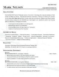 Auto Mechanic Resume Templates Auto Mechanic Resume Template Resume Example Auto Body Technician