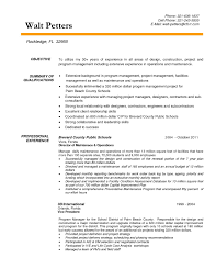 Sample Resume For Facility Maintenance Manager Construction Project Manager Resume Objective Resume For Study 37