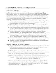 Resume Substitute Teaching Resume