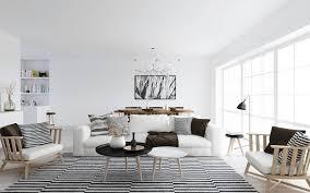 interior black white sofa cushions on white fabric sofa added by round white and black