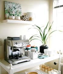 office coffee station. Wonderful View In Gallery Clean And White Coffee Station Minimalist Office Supplies: A