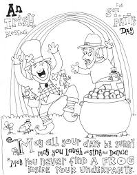 St Patricks Day Coloring Cute St Patricks Day Coloring Pages Skip To My Lou