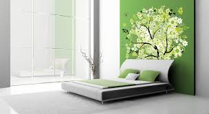 green black mesmerizing: bed room entrancing bedroom wall design ideas with red color and combine weeds stickers also black
