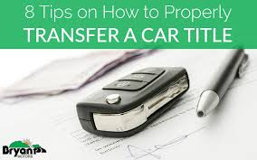 Automobile For Sale Sign Signing Over A Car Title To A New Owner 8 Tips