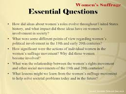 women s suffrage to understand and appreciate the history of women s suffrage 2 essential