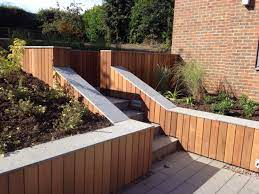 landscaping ideas with timber cladding