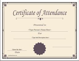Attendance Award Template Attendance Award Certificate Template