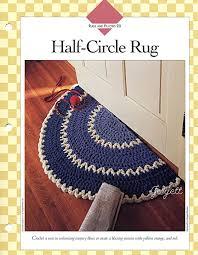 half circle rug quick easy q hook rug mat crochet semi circle rug uk