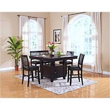 45 102 10 new classic furniture kaylee counter table espresso with regard to dining room design
