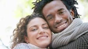 Black an white couple