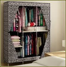 fresh large portable closet simple bedroom with folding wardrobe clothes rack reinforced bluetooth speaker air conditioner