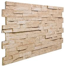 stacked slate wall panel almond traditional siding and stone veneer by faux stone