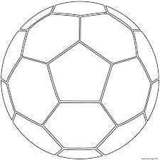 Coloriage Ballon De Foot Soccer Dessin
