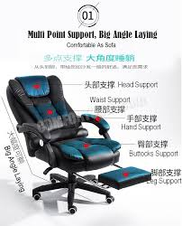 massage chair office. big boss c988 adjustable seat height ergonomic office home computer pu leather comfort chair with massage n