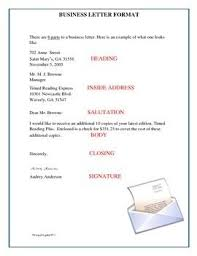 Business Letter Format And Blank Template Free Writing Resources