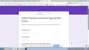Google Form For Parent Teacher Conference Sign Up Youtube