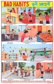 Safety Habits Chart Indian Educational Chart Bad Habits In 2019 School