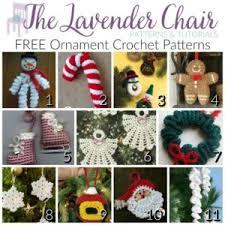 Free Crochet Christmas Ornament Patterns Extraordinary FREE Ornament Crochet Patterns The Lavender Chair