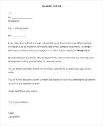 Hr Warning Letter Warning Letter For Employee Of Insubordination Trejos Co
