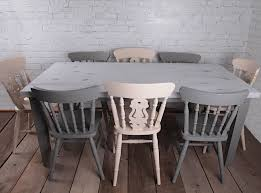 white dining table shabby chic country. Vintage, Farmhouse, Country Home, Shabby Chic Style Dining Table \u0026 Chair Set Hand White E