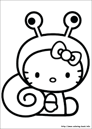 Coloring Easy To Draw Hello Kitty Coloring Page Free