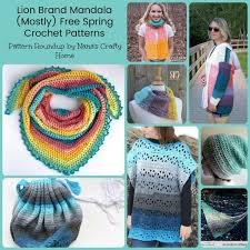Lion Brand Free Crochet Patterns Mesmerizing Lion Brand Mandala Mostly Free Spring Crochet Patterns