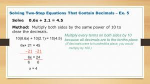 9 solving two step equations