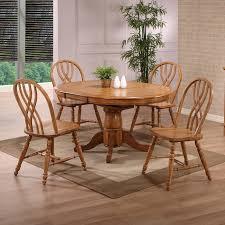 rustic oak black eci furniture 2150 missouri round single pedestal dining table
