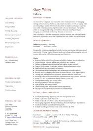 Samples Of Cv And Resumes Editor Cv Sample Overseeing The Layout And Appearance Of