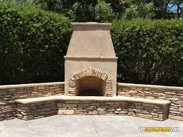 outdoor fireplace with rustic ledgestone rancho murieta california