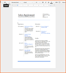 Gallery Of Use Google Docs Resume Templates For A Free Good Looking